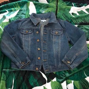 NWOT Cropped Jean Jacket